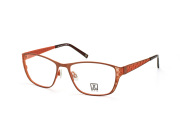 Jette 7516 c2, Oval Brillen, Orange