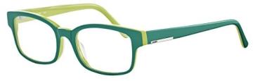 JOOP! Brille 81061 6411 aus Kunststoff Größe 50/18 in der Farbe dunkelgrün, innen hellgrün - 1