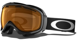 Oakley Damen Skibrille Elevate, jet black w/persimmon, 57-182 - 1
