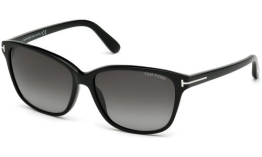 Tom Ford FT0432 C59 01B (shiny black / gradient smoke) Sonnenbrillen - 1