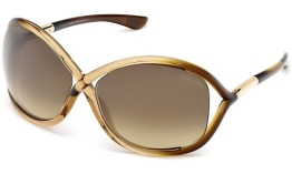 Tom Ford Für Frau 0009 Whitney Gradient Brown / Gradient Brown Kunststoffgestell Sonnenbrillen - 1