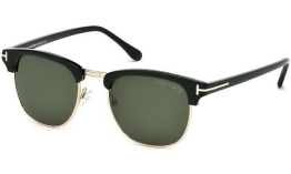 Tom Ford Henry FT0248 C53 05N (black/other / green) Sonnenbrillen - 1