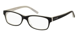 Tommy Hilfiger 1018 Black / Beige Kunststoffgestell Brillen, 52mm - 1