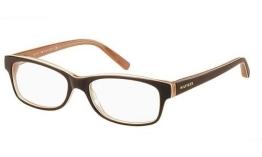 Tommy Hilfiger 1018 Brown / Peach Kunststoffgestell Brillen, 52mm - 1