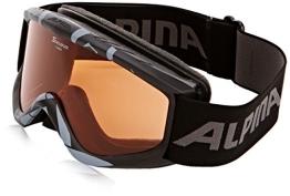 ALPINA Skibrille Carat S, Black Geo, One Size, 7019432 - 1