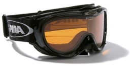 ALPINA Skibrille Freespirit, schwarz transparent qlh (black transparent qlh), One size, A7008-031, - 1