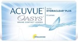Acuvue Oasys Kontaktlinsen, Packung mit 6 Monatslinsen, freie Stärkewahl (BC-Wert: 8.40 / Dia: 14.00) - 1