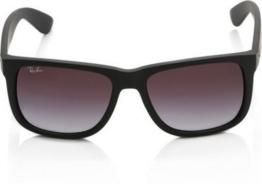 Ray-Ban Unisex - Erwachsene Sonnenbrille Justin, Gr. 54 mm, Black (6One Size/8G Black) - 1