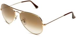 Ray Ban Unisex Sonnenbrille Aviator, Gr. Large (Herstellergröße: 55), Gold (gold 001/51) - 1
