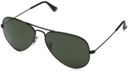 Ray Ban Unisex Sonnenbrille Aviator, Gr. Large (Herstellergröße: 58), Schwarz (schwarz L2823) - 1