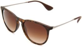 Ray Ban Unisex Sonnenbrille Erika Classic, Mehrfarbig (Gestell: Havana/Gunmetal, Gläser: Braun Verlauf 865/13), 54 mm - 1