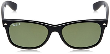 Ray Ban Unisex Sonnenbrille New Wayfarer, Gr. Large (Herstellergröße: 55), Schwarz (schwarz 901/58) - 2