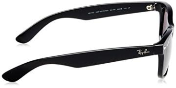 Ray Ban Unisex Sonnenbrille New Wayfarer, Gr. Large (Herstellergröße: 55), Schwarz (schwarz 901/58) - 3