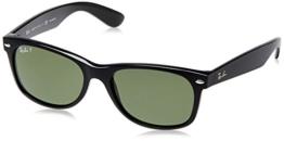 Ray Ban Unisex Sonnenbrille New Wayfarer, Gr. Large (Herstellergröße: 55), Schwarz (schwarz 901/58) - 1