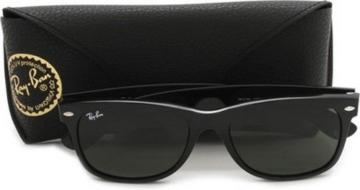 Ray Ban Unisex Sonnenbrille New Wayfarer, Gr. Large (Herstellergröße: 55), Schwarz (schwarz 901/58) - 5
