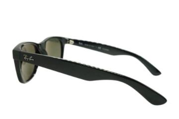 Ray Ban Unisex Sonnenbrille New Wayfarer, Gr. Large (Herstellergröße: 55), Schwarz (schwarz 901/58) - 7