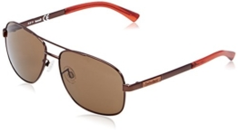 Timberland TB2122 Aviator Sonnenbrille, Brown Red Frame / Gradient Brown - 1