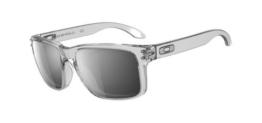 Oakley Herren Holbrook IR HOLBROOK 9102-06 Wayfarer Sonnenbrille, CLEAR/CHROME IRIDIUM/Chrome Iridium (S3) - 1