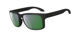 Oakley Holbrook 9102-50 Matte Black/Emerald Iridium - 1