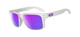 Oakley Sonnenbrille Holbrook, Matte White/Violet Iridium, One size, OO9102-05 - 1