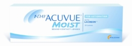 Acuvue 1-Day Moist for Astigmatism Tageslinsen weich, 30 Stück / BC 8.5 mm / DIA 14.5 / CYL -0.75 / Achse 180 / -1.75 Dioptrien - 1