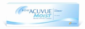 Acuvue 1-Day Moist Tageslinsen weich, 30 Stück / BC 8.5 mm / DIA 14.2 / -1,25 Dioptrien - 1