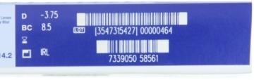 Acuvue 1-Day Tageslinsen weich, 90 Stück / BC 8.5 mm / DIA 14.2 / -3,75 Dioptrien - 2