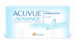 Acuvue Advance 2-Wochenlinsen weich, 6 Stück / BC 8.7 mm / DIA 14.0 / -6.50 Dioptrien - 1