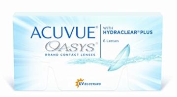 Acuvue Oasys 2-Wochenlinsen weich, 6 Stück / BC 8.4 mm / DIA 14.0 / -1,50 Dioptrien - 1