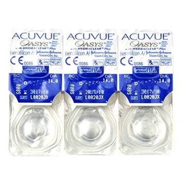 Acuvue Oasys 2-Wochenlinsen weich, 6 Stück / BC 8.4 mm / DIA 14.0 / -1,50 Dioptrien - 2