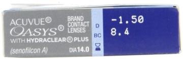 Acuvue Oasys 2-Wochenlinsen weich, 6 Stück / BC 8.4 mm / DIA 14.0 / -1,50 Dioptrien - 3