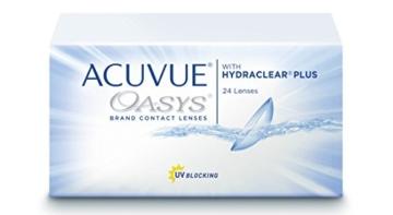 Acuvue Oasys 2-Wochenlinsen weich, 24 Stück / BC 8.4 mm / DIA 14 mm / -8.00 Dioptrien - 1