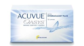 Acuvue Oasys 2-Wochenlinsen weich, 12 Stück / BC 8.4 mm / DIA 14.0 / -2.50 Dioptrien - 1