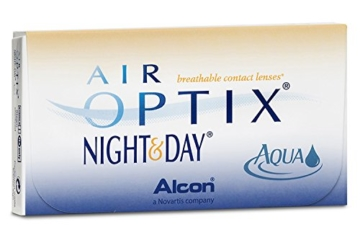 Air Optix Night & Day Aqua Monatslinsen weich, 3 Stück / BC 8,6 mm / DIA 13,8 mm / -1,75 Dioptrien - 2