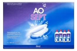 Aosept Plus Pflegemittel für weiche Kontaktlinsen, Systempack 4x 360 ml - 1