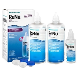 Bausch & Lomb Renu MPS Pflegemittel für weiche Kontaktlinsen, Bigbox 2x 360 ml + 60ml - 1