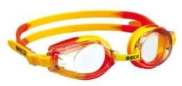 Beco Schwimmbrille Rimini für Kinder und Jugendliche Kinderschwimmbrille Profischwimmbrille gelb/orange - 1