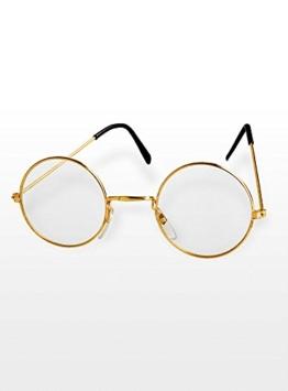 Brille Oma / Opa gold ohne Gläser - 1