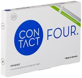 Contact Four classic Monatslinsen weich, 6 Stück / BC 8.80 mm / DIA 14.20 mm / +4.5 Dioptrien - 1