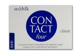 Contact Four toric Monatslinsen weich, 6 Stück / BC 8.80 mm / DIA 14.4 / CYL -1.75 / ACHSE 170 / -3.50 Dioptrien - 1