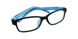 De Ding Kinder Silikon Optische Kurzsichtige Brillen Rahmen Mehrfarbig BlackBlue - 1