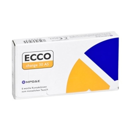 ECCO change 30 AS Monatslinsen weich, 6 Stück / BC 8.70 mm / DIA 14.40 mm / -2 Dioptrien - 1