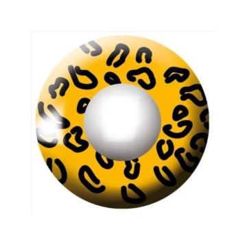 Eyecatcher Color Fun, Farbige Kontaktlinsen, Gelber Leopard, Jahreslinsen weich, 2 Stück / BC 8.6 mm / DIA 14.5 mm / 0.00 Dioptrien - 2