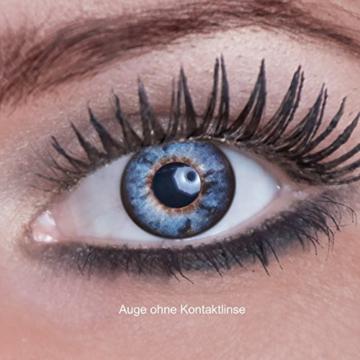 Eyecatcher Color Fun, Farbige Kontaktlinsen, Black Spiral, Jahreslinsen weich, 2 Stück / BC 8.6 mm / DIA 14.5 mm / 0.00 Dioptrien - 2