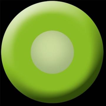 Eyecatcher Color Fun - Farbige UV Kontaktlinsen - Flash Green / Grün - leuchten im Schwarzlicht - 2 Stück (1 Paar) - Ideal für Karneval, Fasching, Halloween & Party - 2
