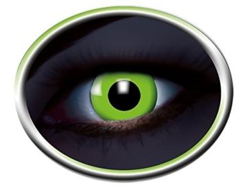 Eyecatcher Color Fun - Farbige UV Kontaktlinsen - Flash Green / Grün - leuchten im Schwarzlicht - 2 Stück (1 Paar) - Ideal für Karneval, Fasching, Halloween & Party - 1