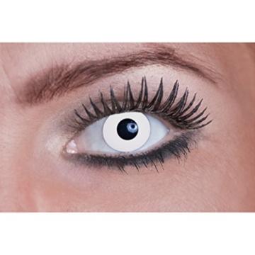 Eyecatcher Color Fun UV, Farbige Kontaktlinsen, flash white, Leuchten im Schwarzlicht, 1er Pack (1 x 2 Stück) - 2