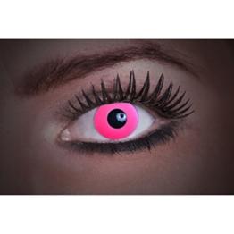 Eyecatcher Color Fun UV, Farbige Kontaktlinsen, flash pink, Leuchten im Schwarzlicht, 1er Pack (1 x 2 Stück) - 1