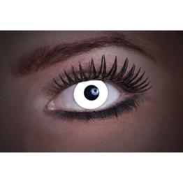 Eyecatcher Color Fun UV, Farbige Kontaktlinsen, flash white, Leuchten im Schwarzlicht, 1er Pack (1 x 2 Stück) - 1