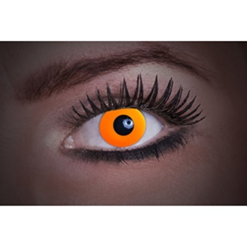 Eyecatcher Color Fun UV, Farbige Kontaktlinsen, flash orange, Leuchten im Schwarzlicht, 1er Pack (1 x 2 Stück) - 1